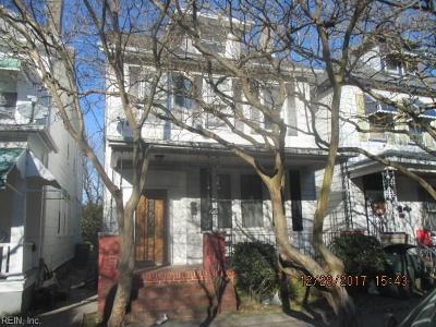 Norfolk Single Family Home For Sale: 1022 Anderson St