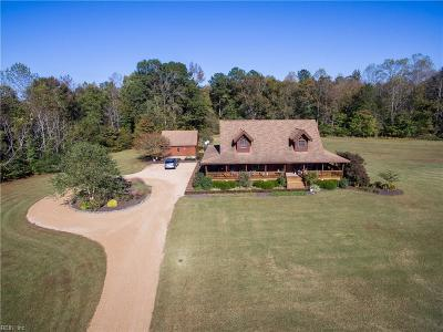 Suffolk Single Family Home For Sale: 3600 Pittmantown Rd