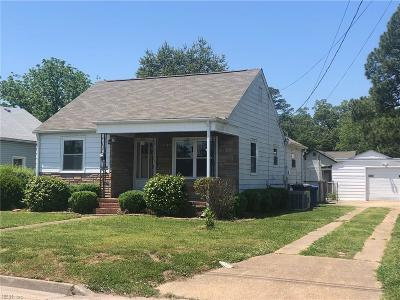 Newport News VA Single Family Home For Sale: $124,000