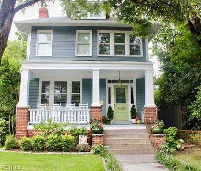 Norfolk Single Family Home Under Contract: 1406 Westover Ave