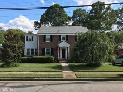 Norfolk Single Family Home For Sale: 501 Carlisle Way