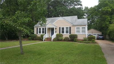 Norfolk Single Family Home For Sale: 212 North Blake Rd