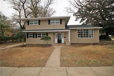 Norfolk Single Family Home New Listing: 7471 Millbrook Rd