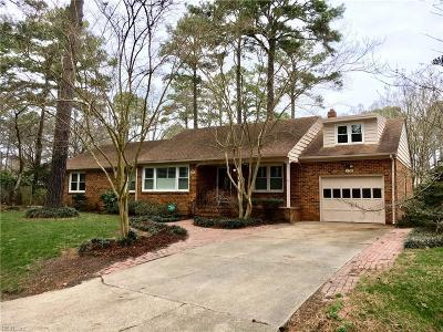 Virginia Beach Single Family Home New Listing: 2716 Chester Forest Ct