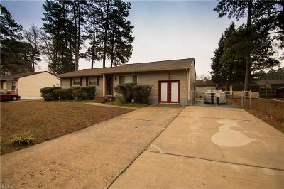 Chesapeake Single Family Home New Listing: 3045 Bomar Dr