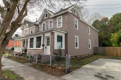 Norfolk Single Family Home New Listing: 2523 Middle Ave