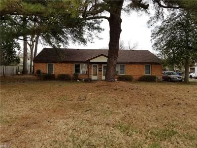 Norfolk Single Family Home New Listing: 9101 Hammett Ave Ave