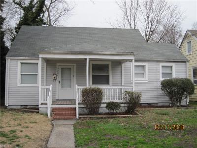 Portsmouth Single Family Home New Listing: 3204 Arlington Pl