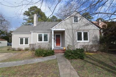 Norfolk Single Family Home New Listing: 1514 Degrasse Ave