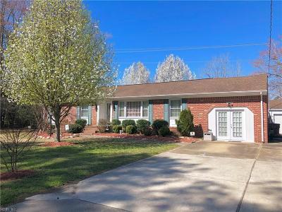 Chesapeake Single Family Home New Listing: 3204 Pioneer Ln