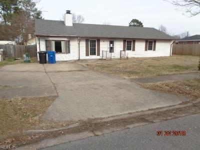 Virginia Beach Single Family Home New Listing: 5104 Sammy St