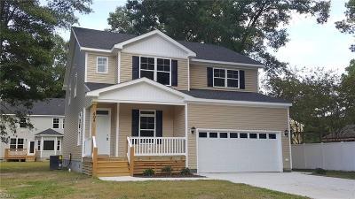 Virginia Beach Single Family Home New Listing: 404 Patton Ln