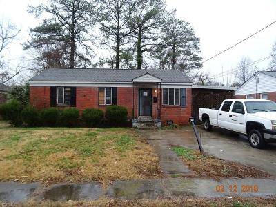 Norfolk Single Family Home New Listing: 3644 Somme Ave