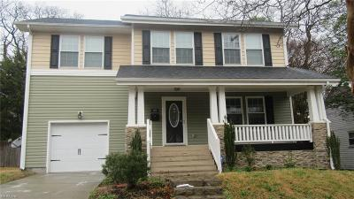 Norfolk Single Family Home New Listing: 412 W 37th St