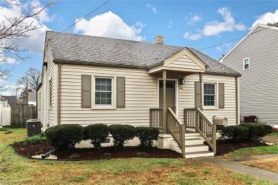 Chesapeake Single Family Home New Listing: 1118 Ferebee Ave
