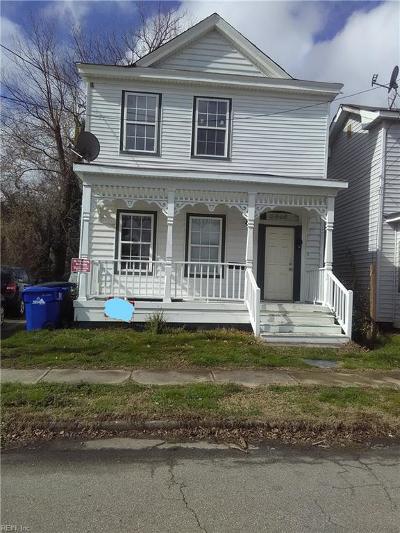 Portsmouth Single Family Home New Listing: 2906 Chestnut St