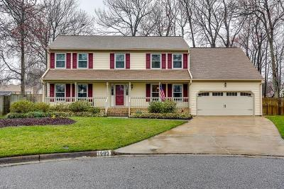 Virginia Beach Single Family Home New Listing: 1605 Boston Ct