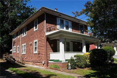 Norfolk Single Family Home New Listing: 2619 Ruffin Way