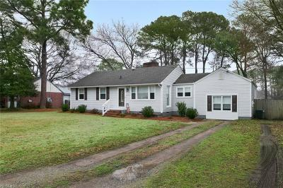 Virginia Beach Single Family Home New Listing: 1204 Olive Rd