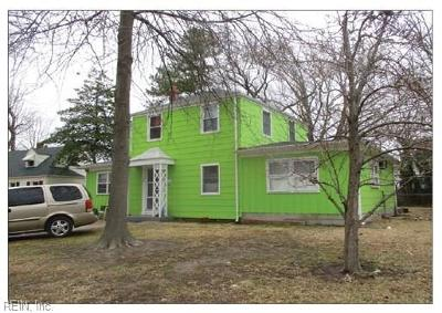 Norfolk Single Family Home Under Contract: 3518 White Chapel Rd