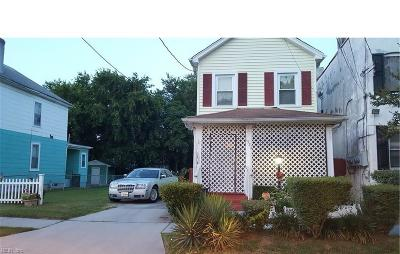 Norfolk Single Family Home New Listing: 1522 Dungee St