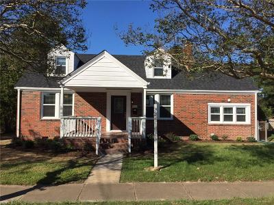 Norfolk Single Family Home New Listing: 916 Norview Ave