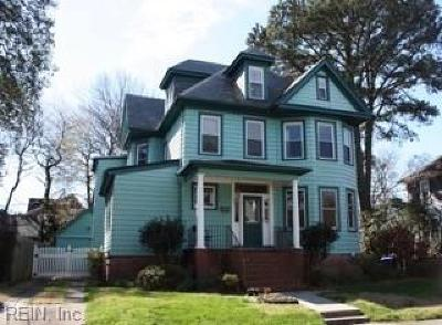 Norfolk Single Family Home New Listing: 1139 Magnolia Ave