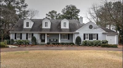 Norfolk Single Family Home Under Contract: 1323 Windsor Point Rd