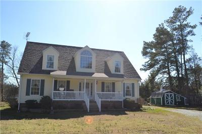 Northampton County, Accomack County Single Family Home For Sale: 25594 Joynes Neck Rd