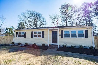 Newport News VA Single Family Home New Listing: $185,000