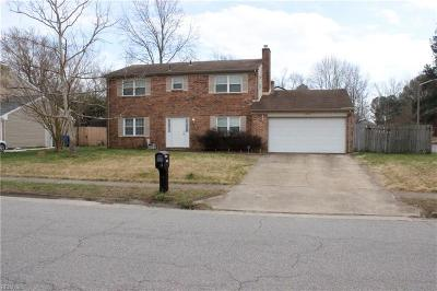 Virginia Beach VA Single Family Home New Listing: $287,000