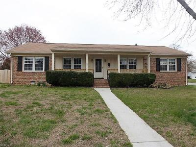 Newport News VA Single Family Home New Listing: $162,000