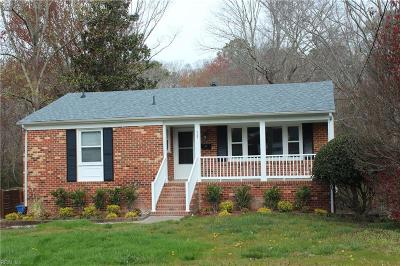 Newport News VA Single Family Home New Listing: $225,000