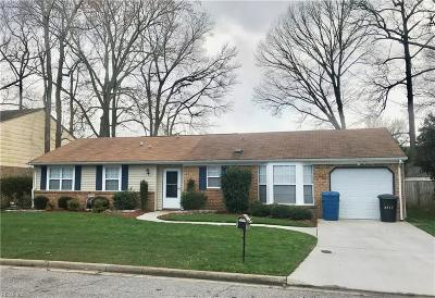 Virginia Beach VA Single Family Home New Listing: $240,000