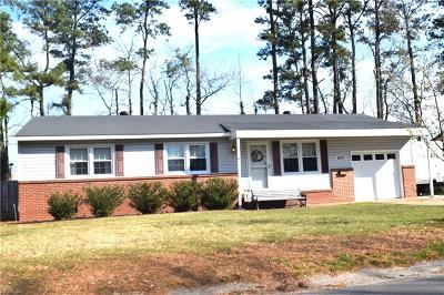 Virginia Beach VA Single Family Home New Listing: $215,000