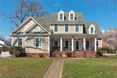 Hampton Single Family Home For Sale: 1501 Chesapeake Ave