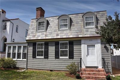 Virginia Beach Single Family Home For Sale: 216 Cavalier Dr