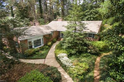 Virginia Beach Single Family Home New Listing: 1413 N Woodhouse Rd