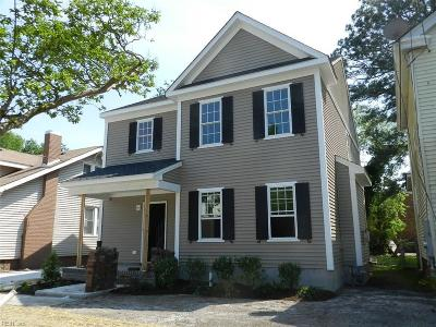 Norfolk Single Family Home New Listing: 827 W 27th St