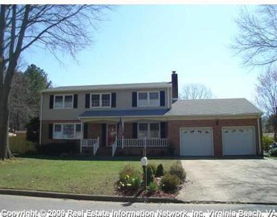 Virginia Beach Single Family Home New Listing: 5749 Lancelot Dr