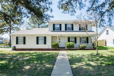 Virginia Beach Single Family Home New Listing: 961 Wasserman Dr