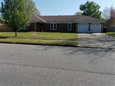 Virginia Beach Single Family Home New Listing: 1153 Red Mill Blvd