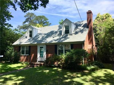Norfolk Single Family Home New Listing: 1620 Melrose Pw