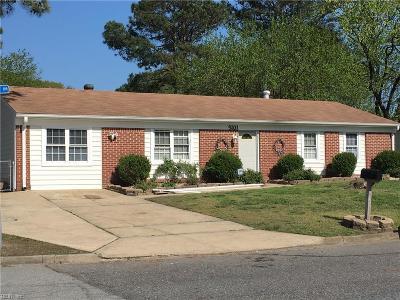 Chesapeake Single Family Home New Listing: 3101 Bruno Dr