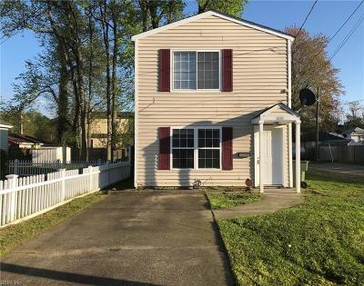 Norfolk Single Family Home New Listing: 1081 Kittrell St