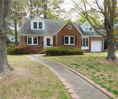 Norfolk Single Family Home New Listing: 6054 River Rd