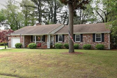 Portsmouth Single Family Home New Listing: 5709 Brookmere Ln