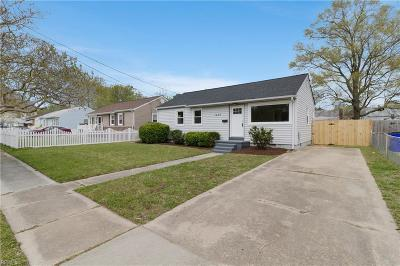 Norfolk Single Family Home New Listing: 1432 Virgilina Avenue