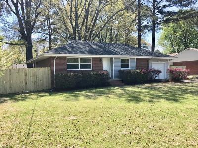 Virginia Beach Single Family Home New Listing: 1109 Harlie Ave