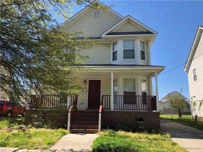 Norfolk VA Single Family Home New Listing: $150,000
